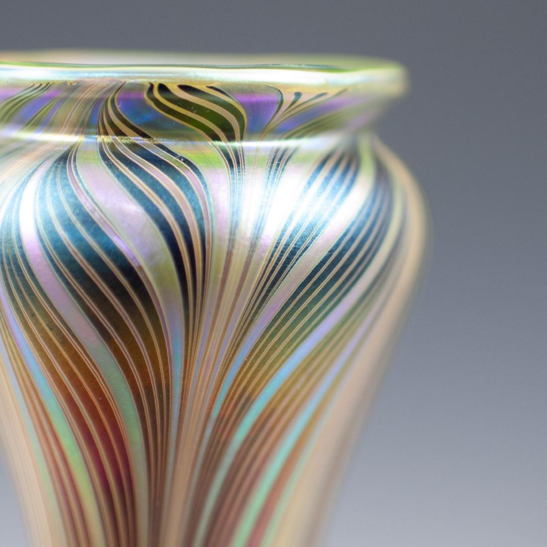 Lundberg Studios Iridescent Art Glass Vase - 2