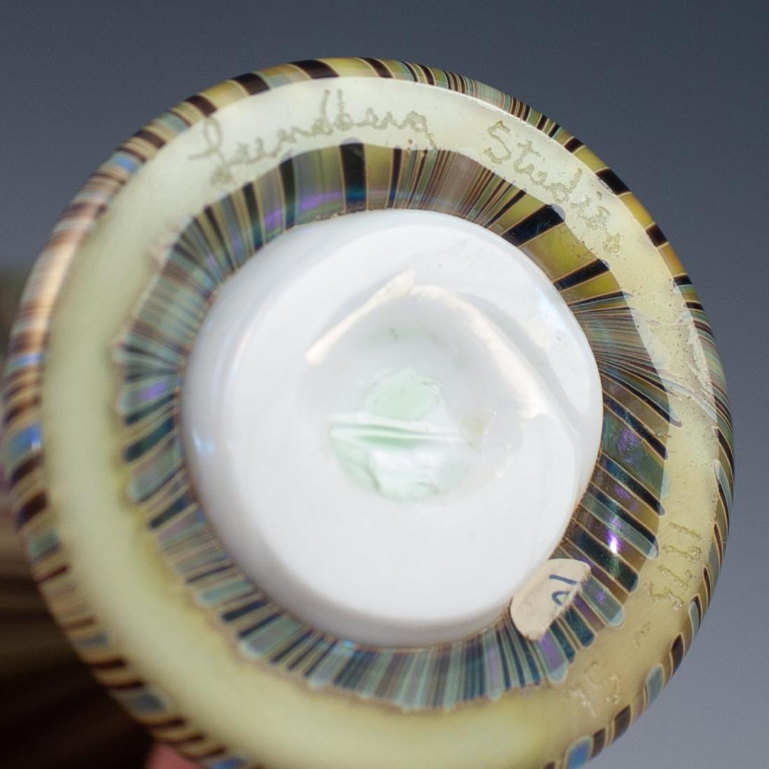 Lundberg Studios Iridescent Art Glass Vase - 3