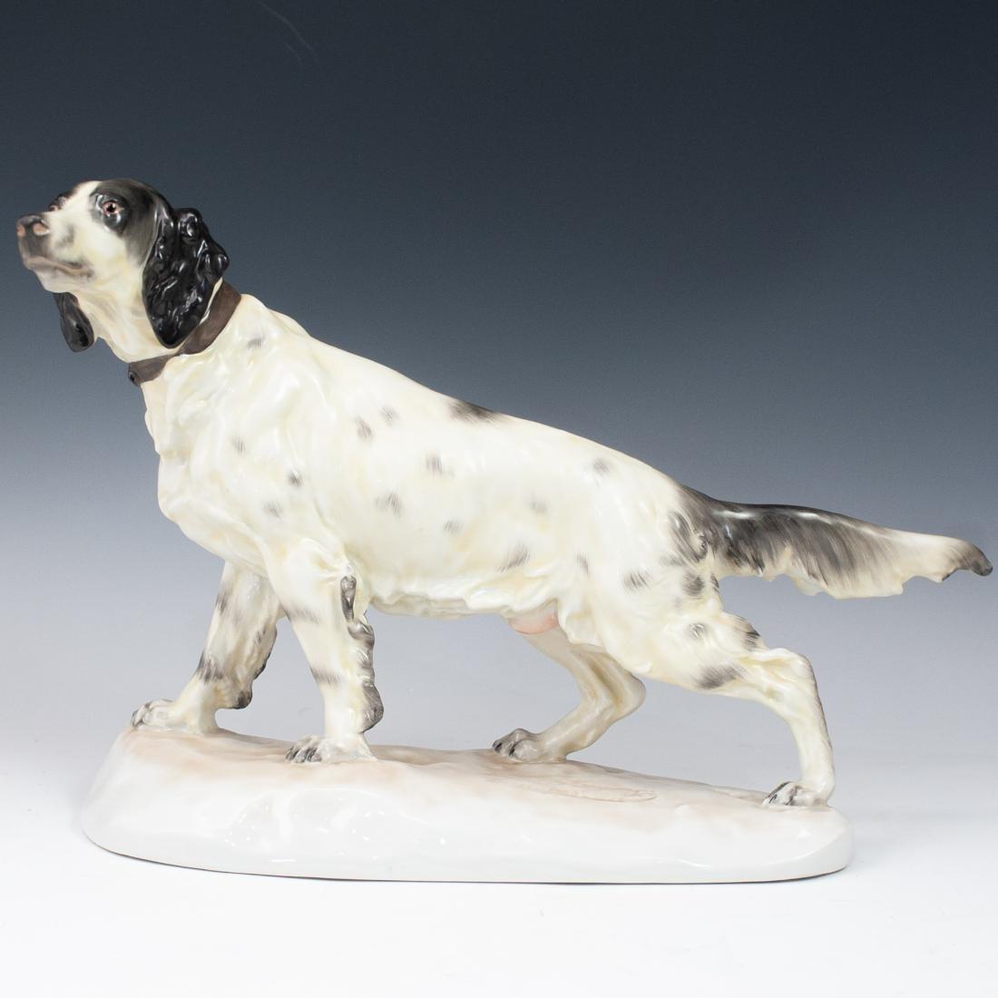 Herend Porcelain English Setter Dog Figurine