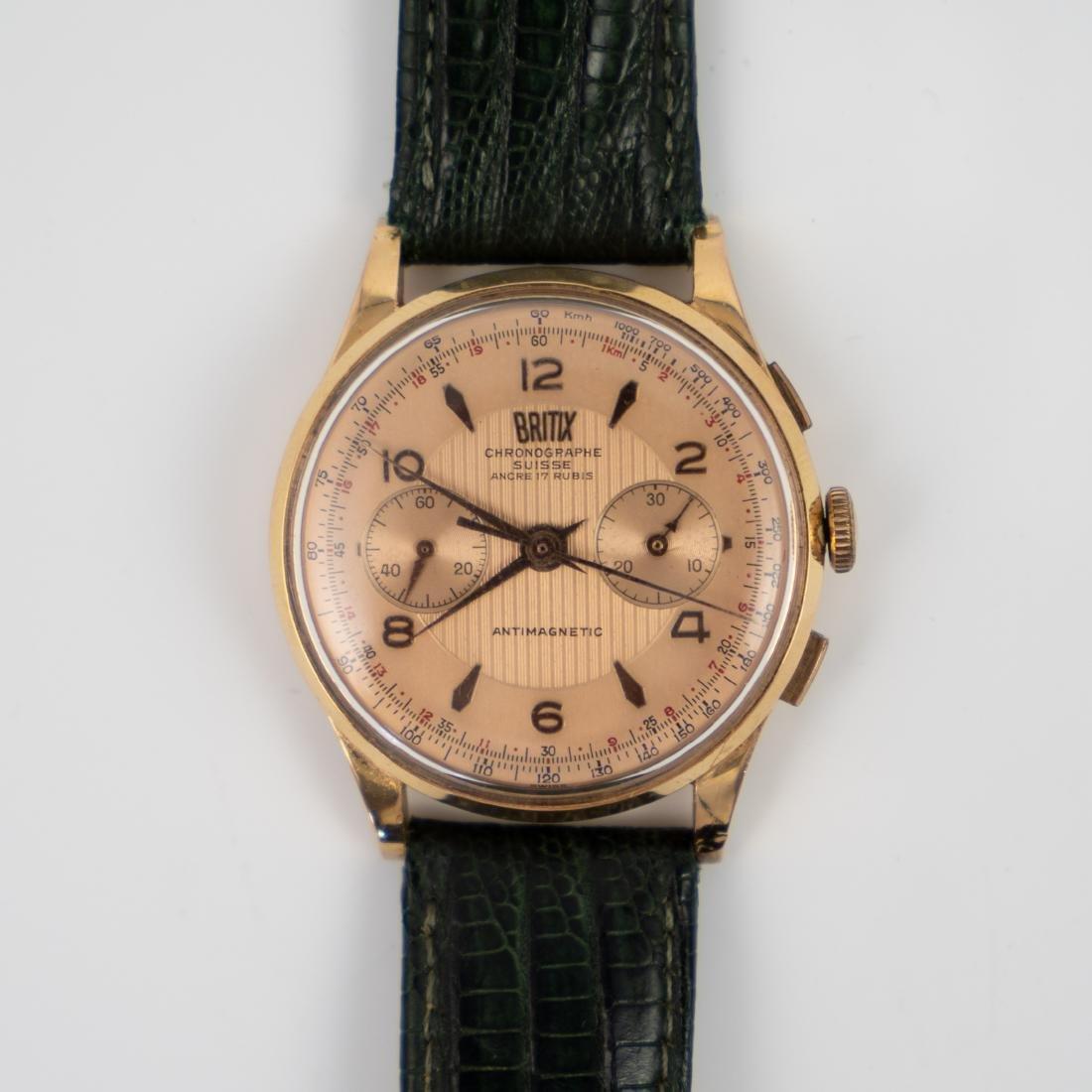 Vintage Britix 18k Rose Gold Watch