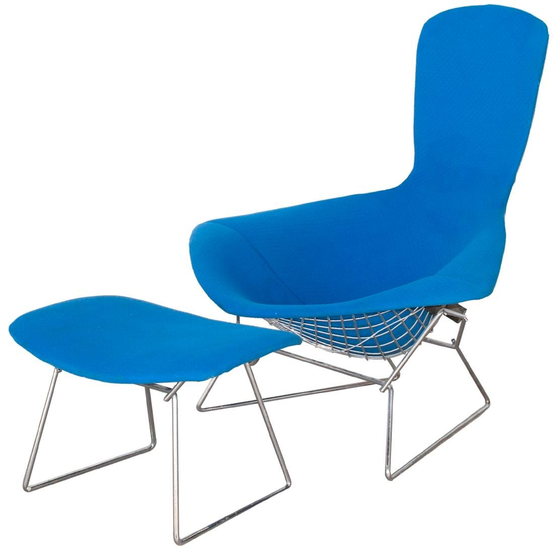 "Knoll Harry Bertoia ""Bird"" Chair With Ottoman"