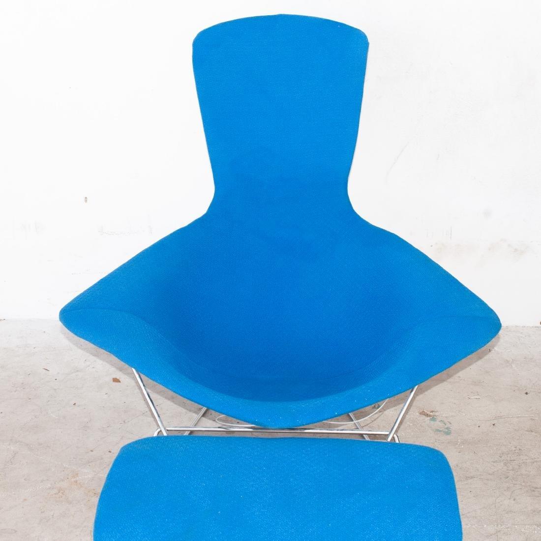 "Knoll Harry Bertoia ""Bird"" Chair With Ottoman - 2"