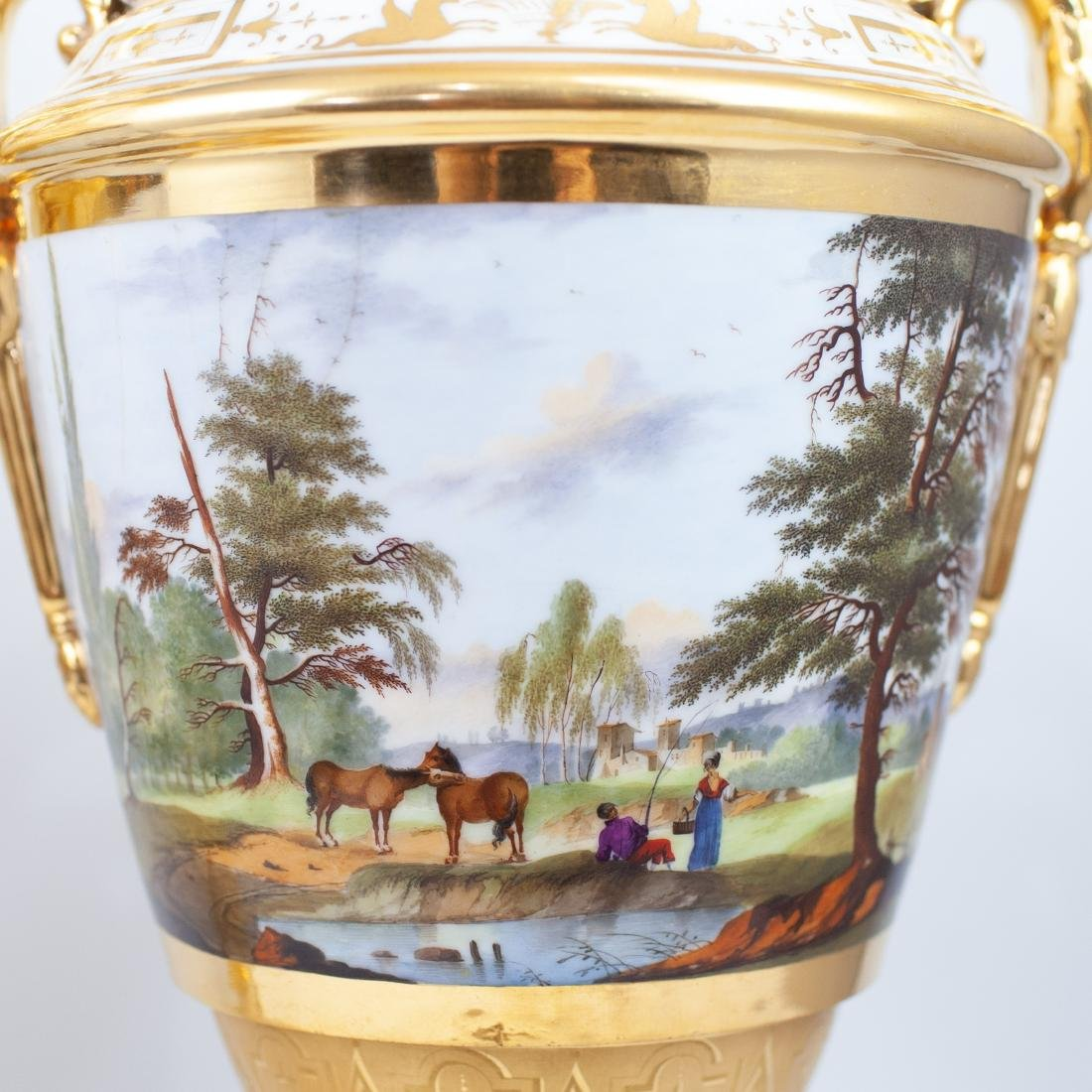 Pair Of 19th Cent. Sevres Porcelain Urns - 4