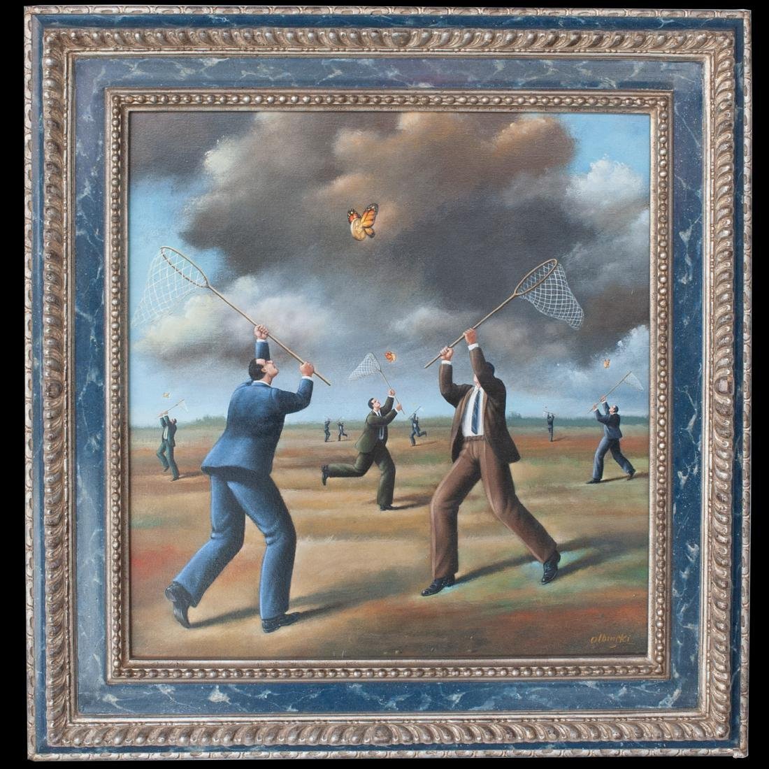 Rafal Olbinski (Poland. 1943-Present) Oil On Canvas