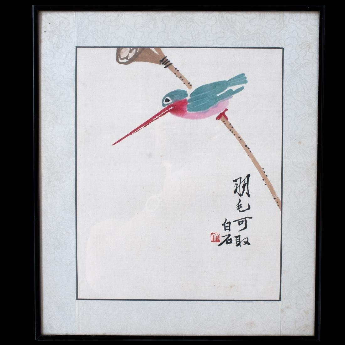 Qi Baishi (Chinese. 1864-1957) Ink On Paper Painting