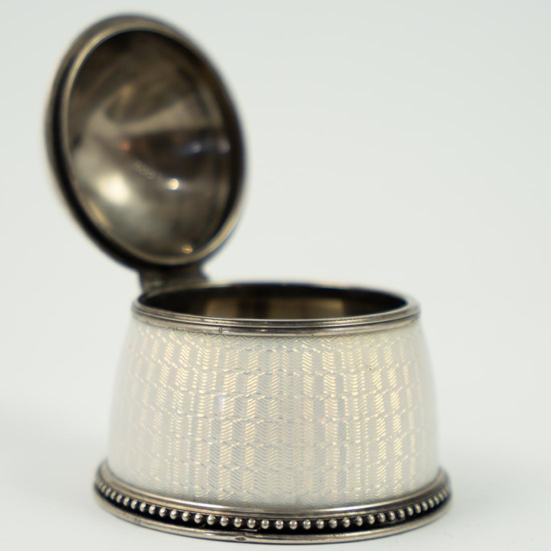 Ivan Britsyn Russian Guilloche Enamel Silver Salt