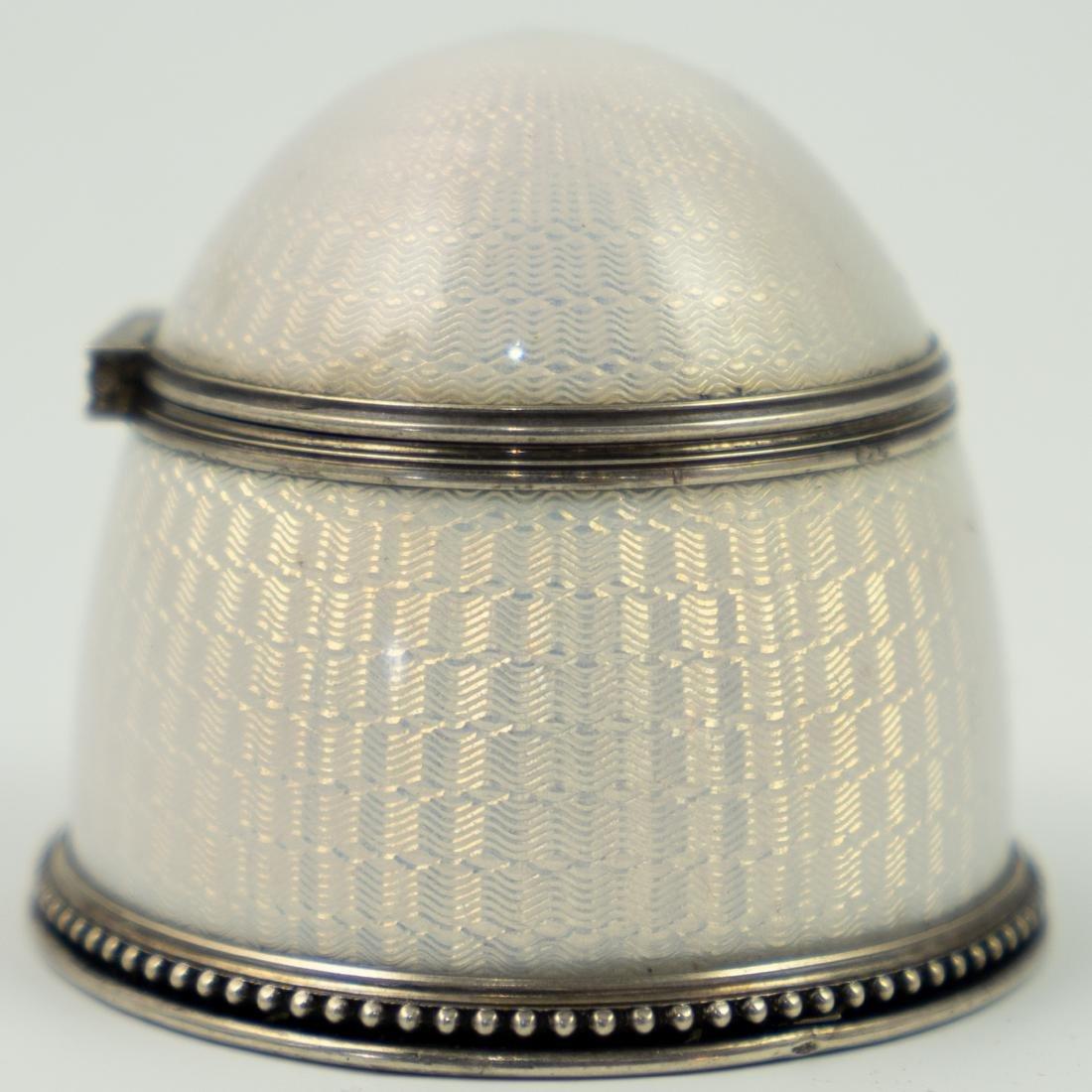 Ivan Britsyn Russian Guilloche Enamel Silver Salt - 2