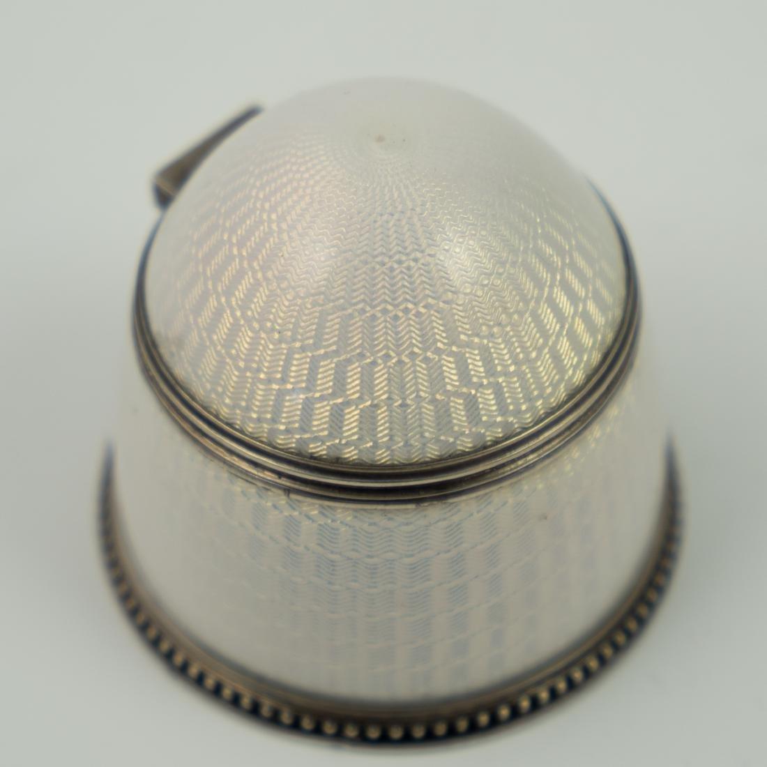 Ivan Britsyn Russian Guilloche Enamel Silver Salt - 3