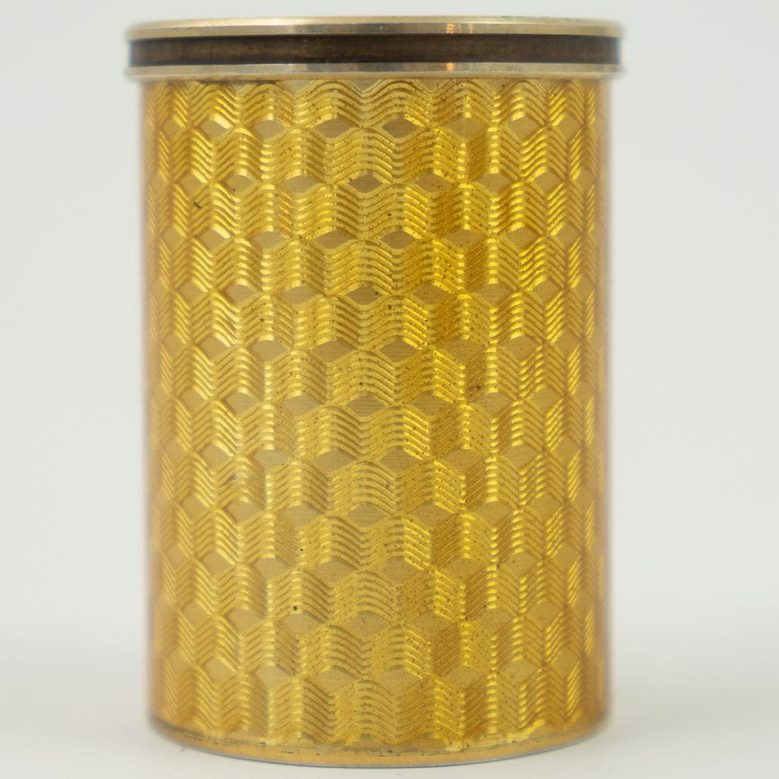 Karl Faberge Guiloche Enameled Silver Shot Glass by - 2