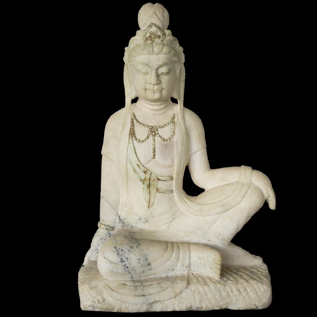Chinese Carved Marble Guanyin