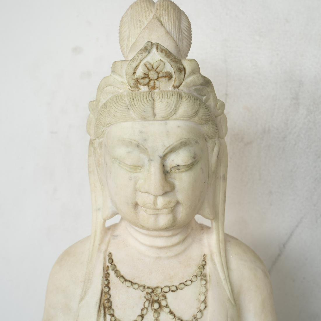 Chinese Carved Marble Guanyin - 2