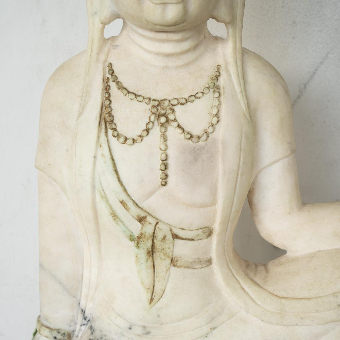 Chinese Carved Marble Guanyin - 3