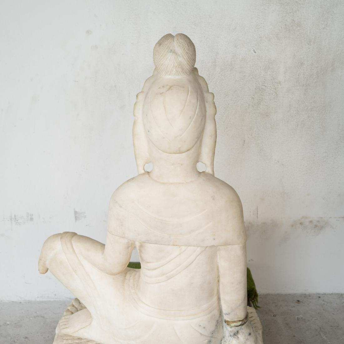 Chinese Carved Marble Guanyin - 4