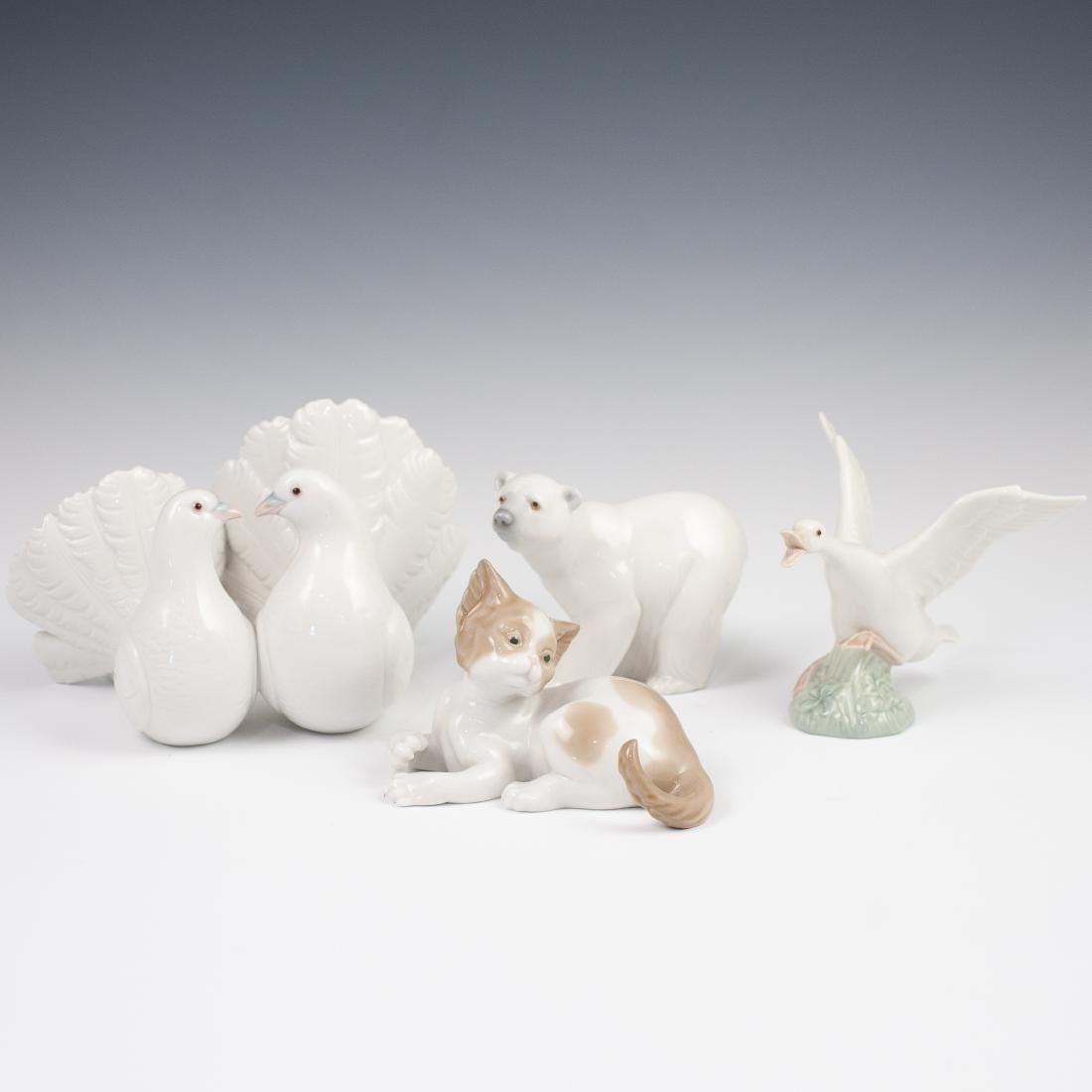 (4) Vintage Porcelain Lladro Figurines