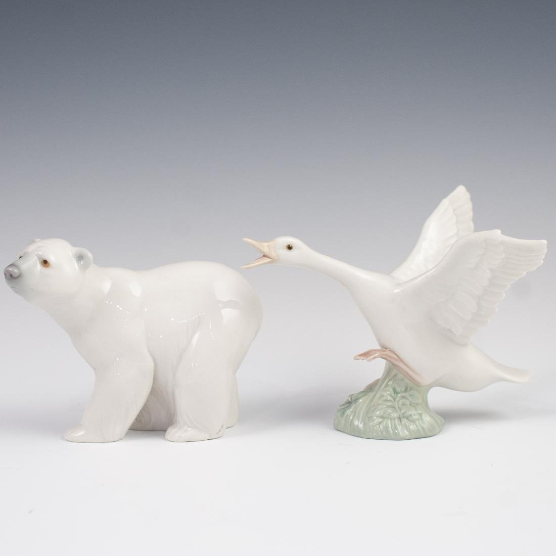 (4) Vintage Porcelain Lladro Figurines - 4