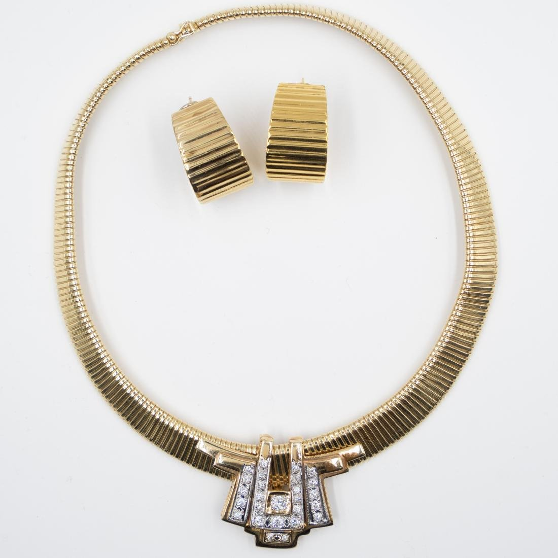 Gold & Diamond Jewelry Set