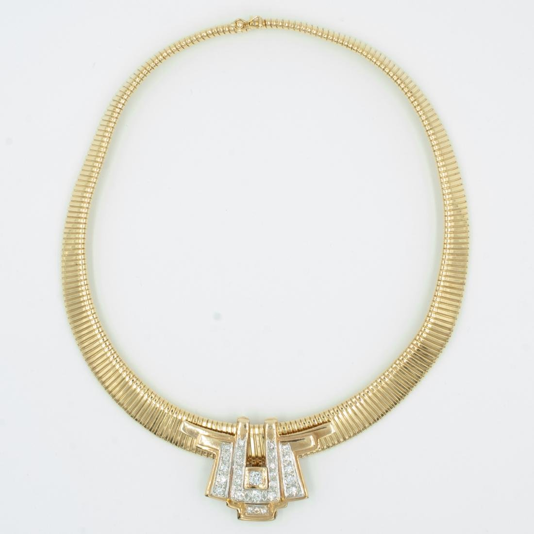 Gold & Diamond Jewelry Set - 5
