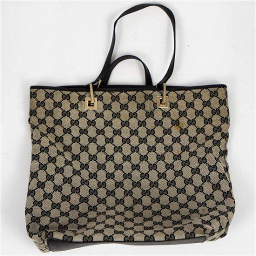 5e32a48ff Vintage Gucci Canvas Tote Bag - Jan 23, 2019 | Akiba Antiques in FL