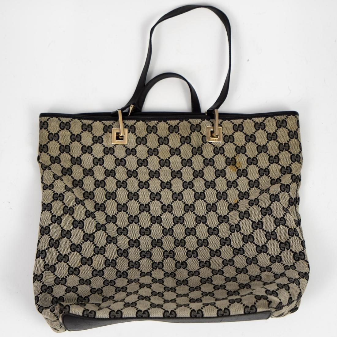 51e5da87c0f9 Vintage Gucci Canvas Tote Bag