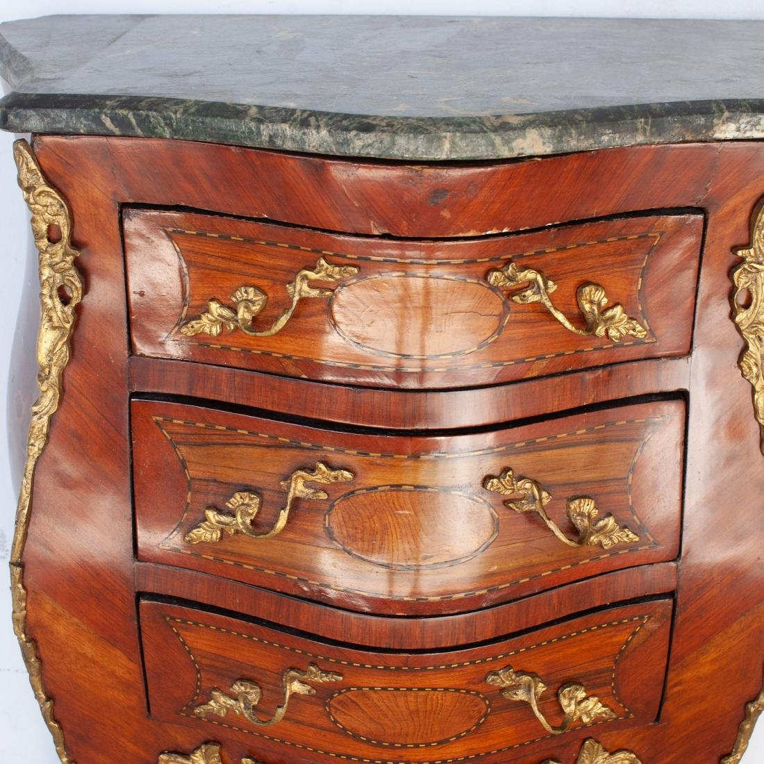 Louis XV Style Bombe Commode - 2