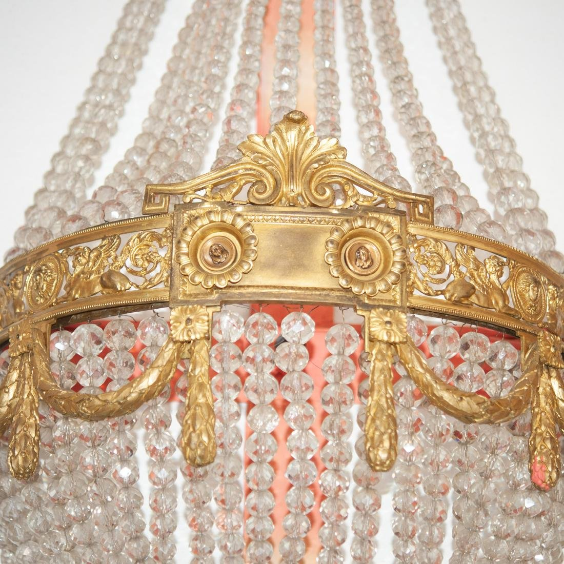 Antique French Dore Bronze & Crystal Sconce - 2