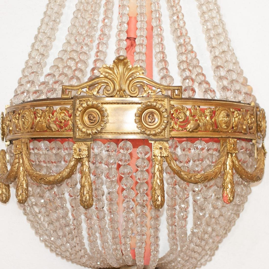 Antique French Dore Bronze & Crystal Sconce - 5