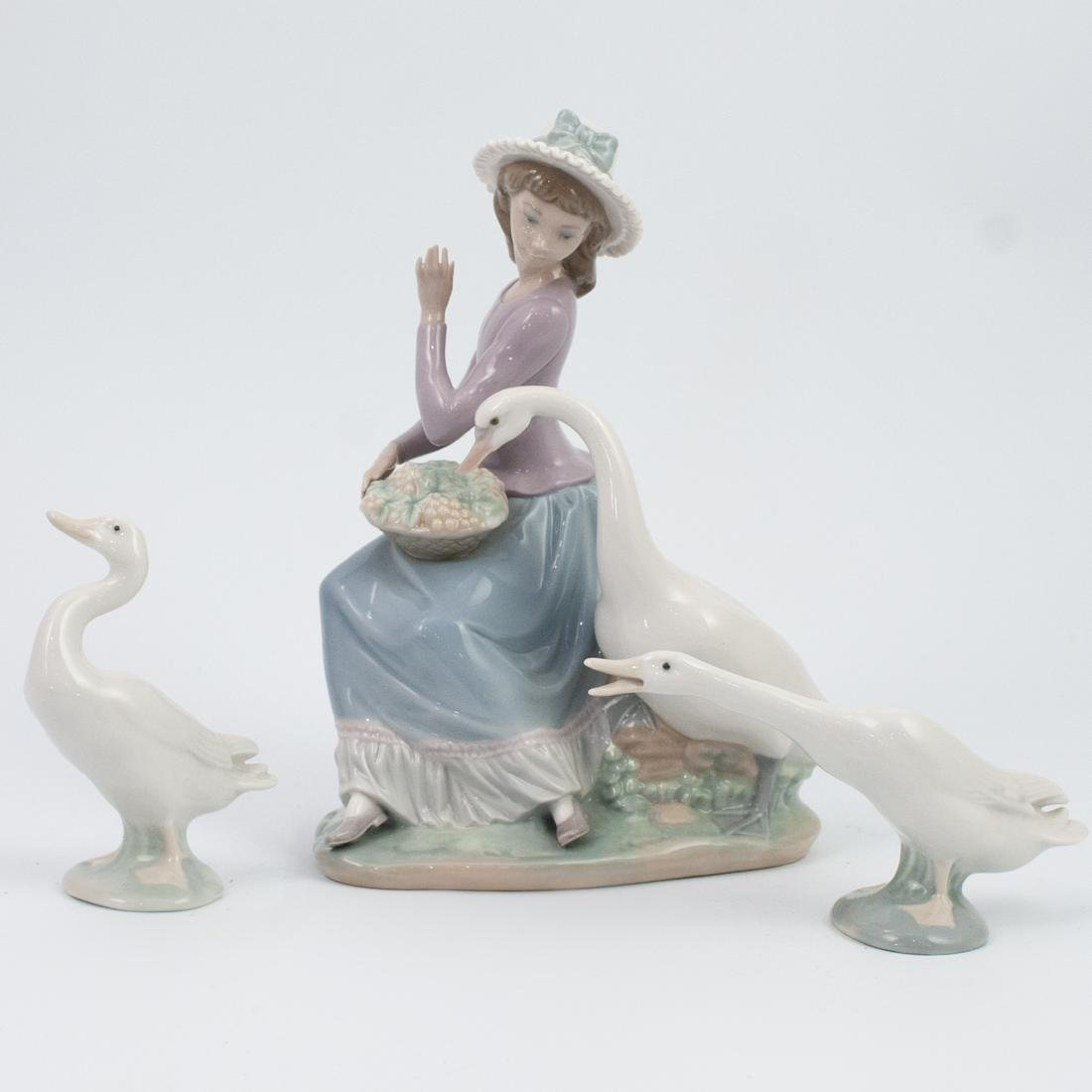 Lot of Three (3) Porcelain Lladro Figurines