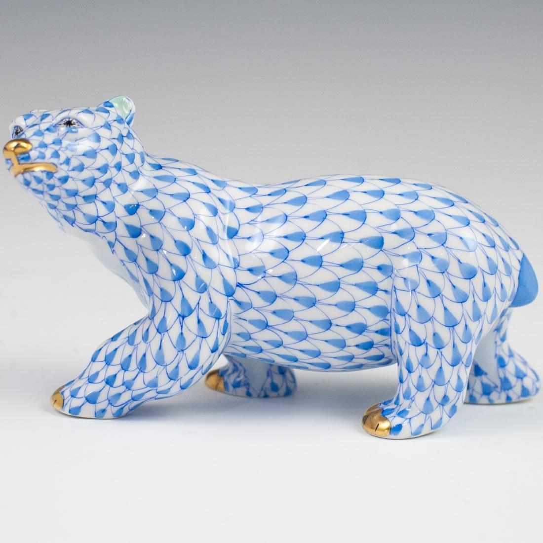 Herend Porcelain Fishnet Polar Bear