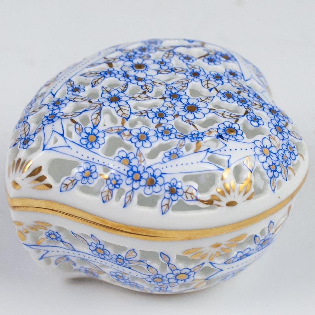 Herend Porcelain Reticulated Bonbonniere