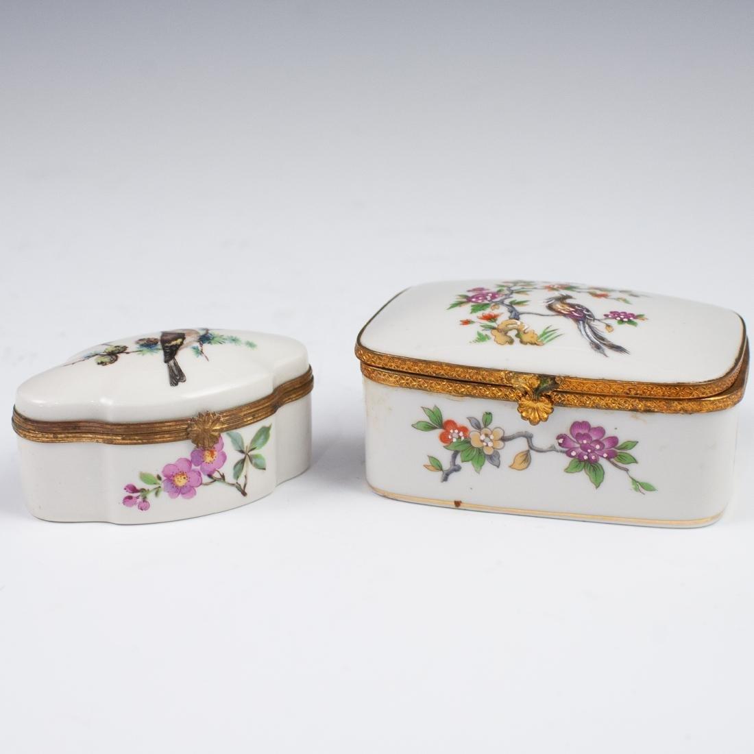 Limoges Porcelain Dresser Boxes