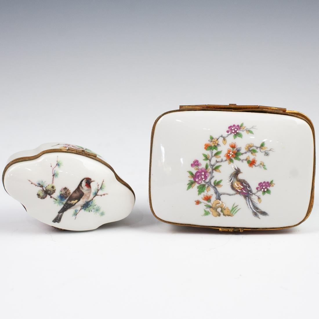 Limoges Porcelain Dresser Boxes - 2