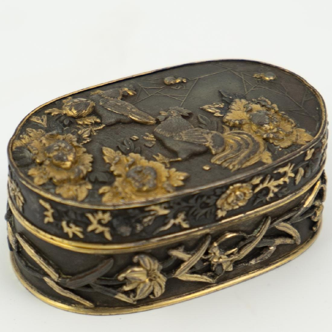 Japanese Meiji Period Bronze and Gold Box