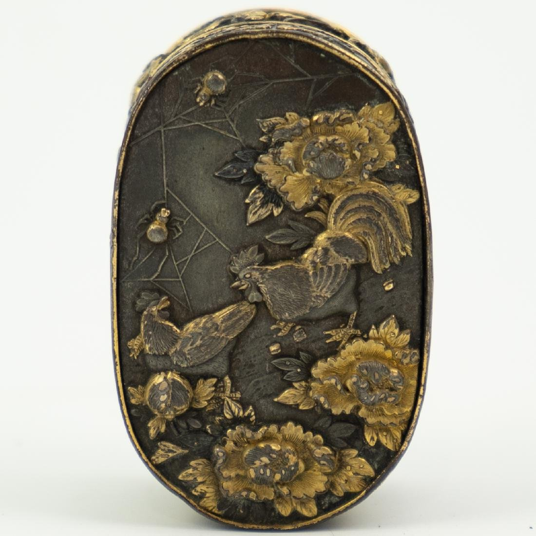 Japanese Meiji Period Bronze and Gold Box - 2