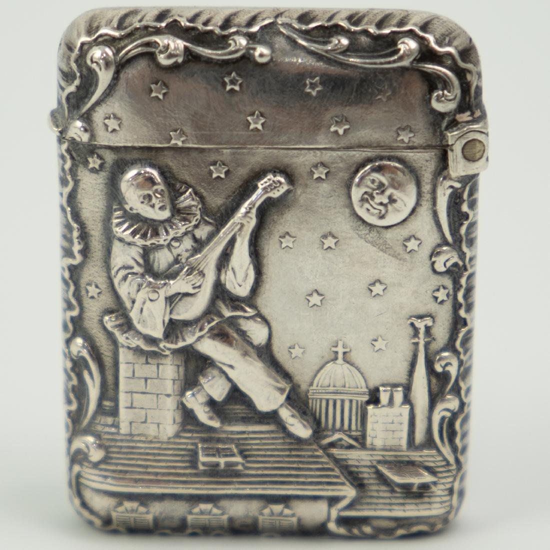 French Silver Match / Vesta Case