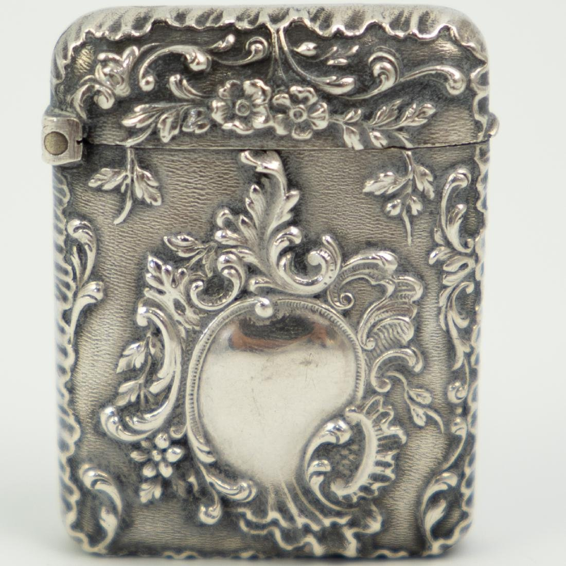 French Silver Match / Vesta Case - 2