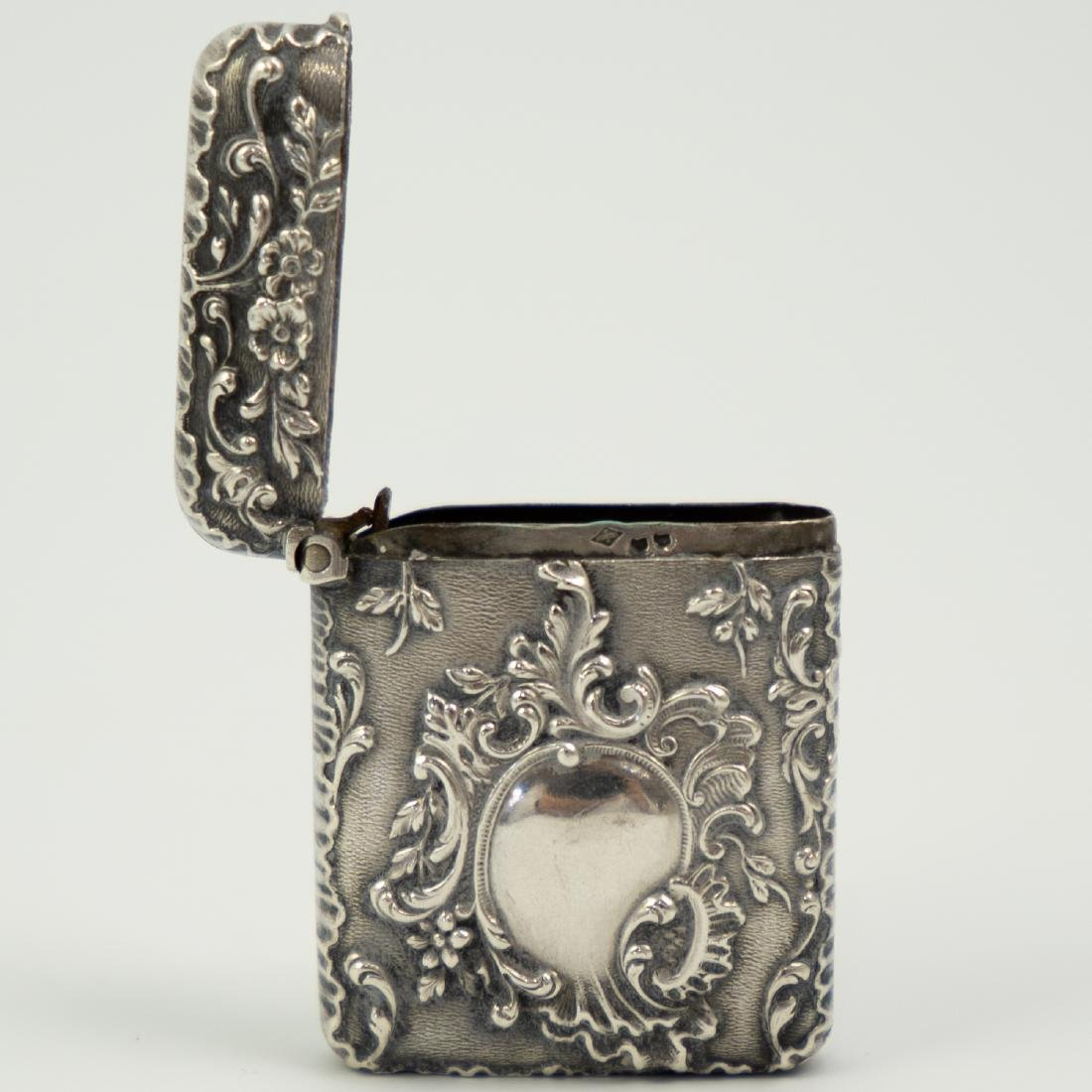 French Silver Match / Vesta Case - 5