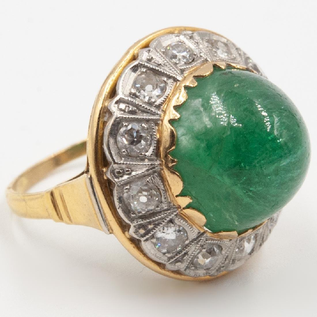 Art Deco Emerald & Diamond Ring - 2