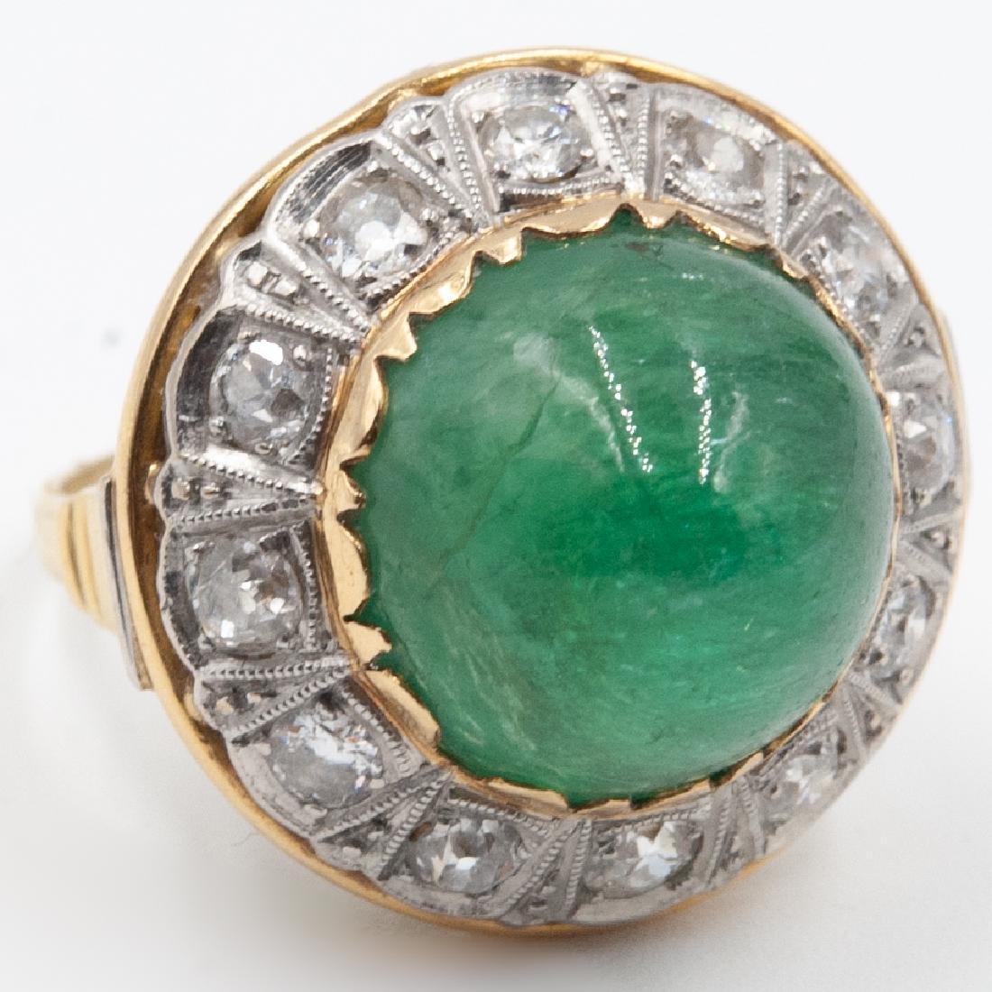 Art Deco Emerald & Diamond Ring - 3