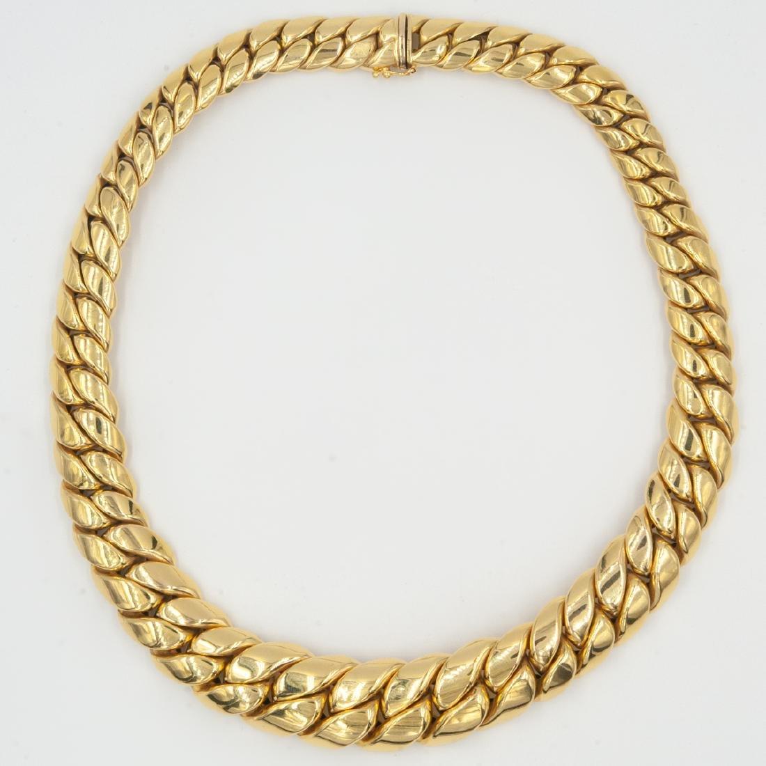 14K Gold Cuban Link Necklace