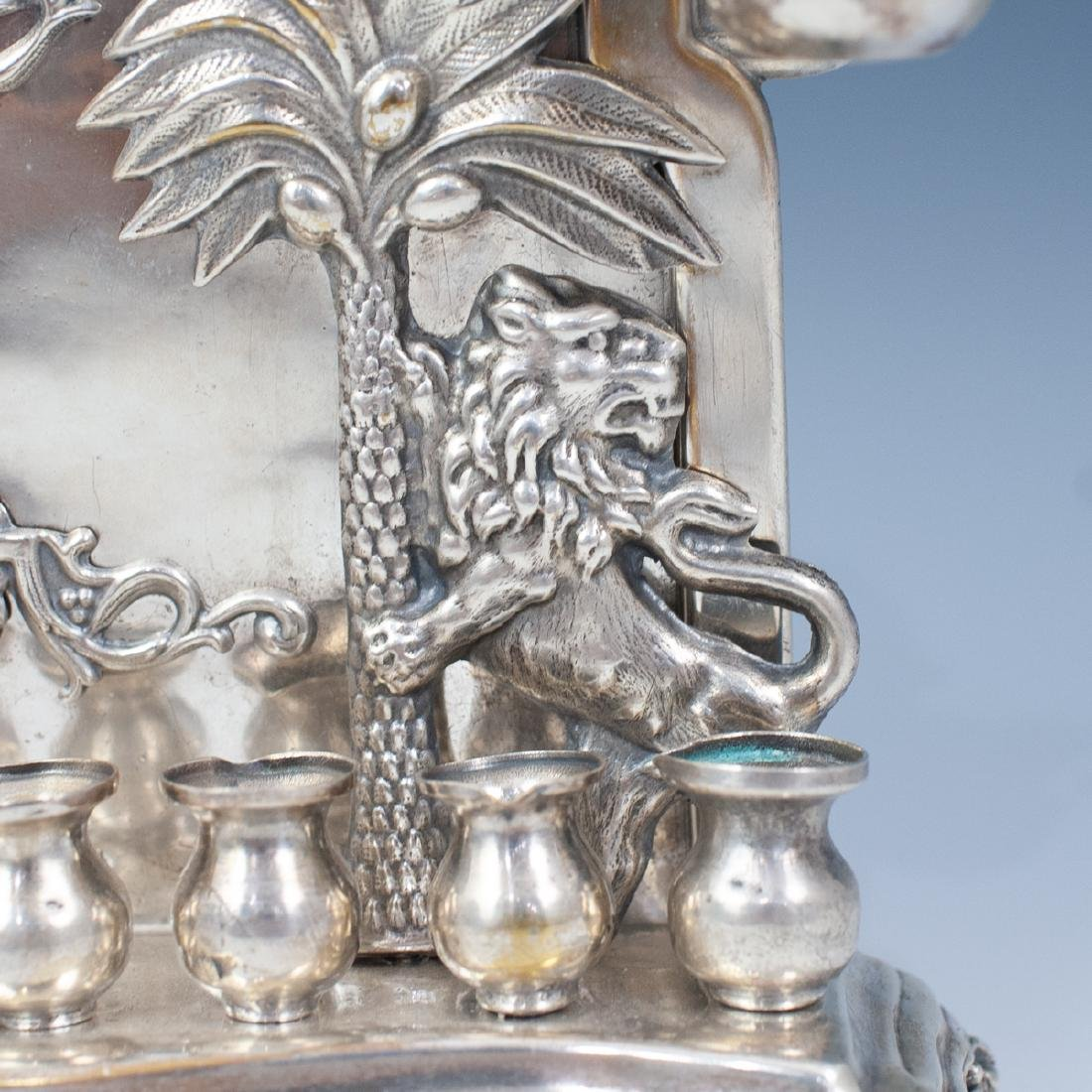 J. Ehrlich Sterling Silver Menorah - 5