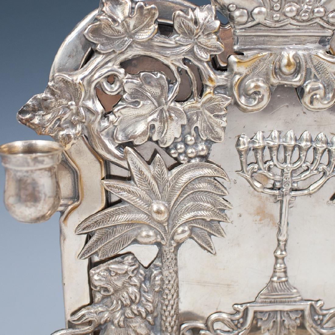 J. Ehrlich Sterling Silver Menorah - 7