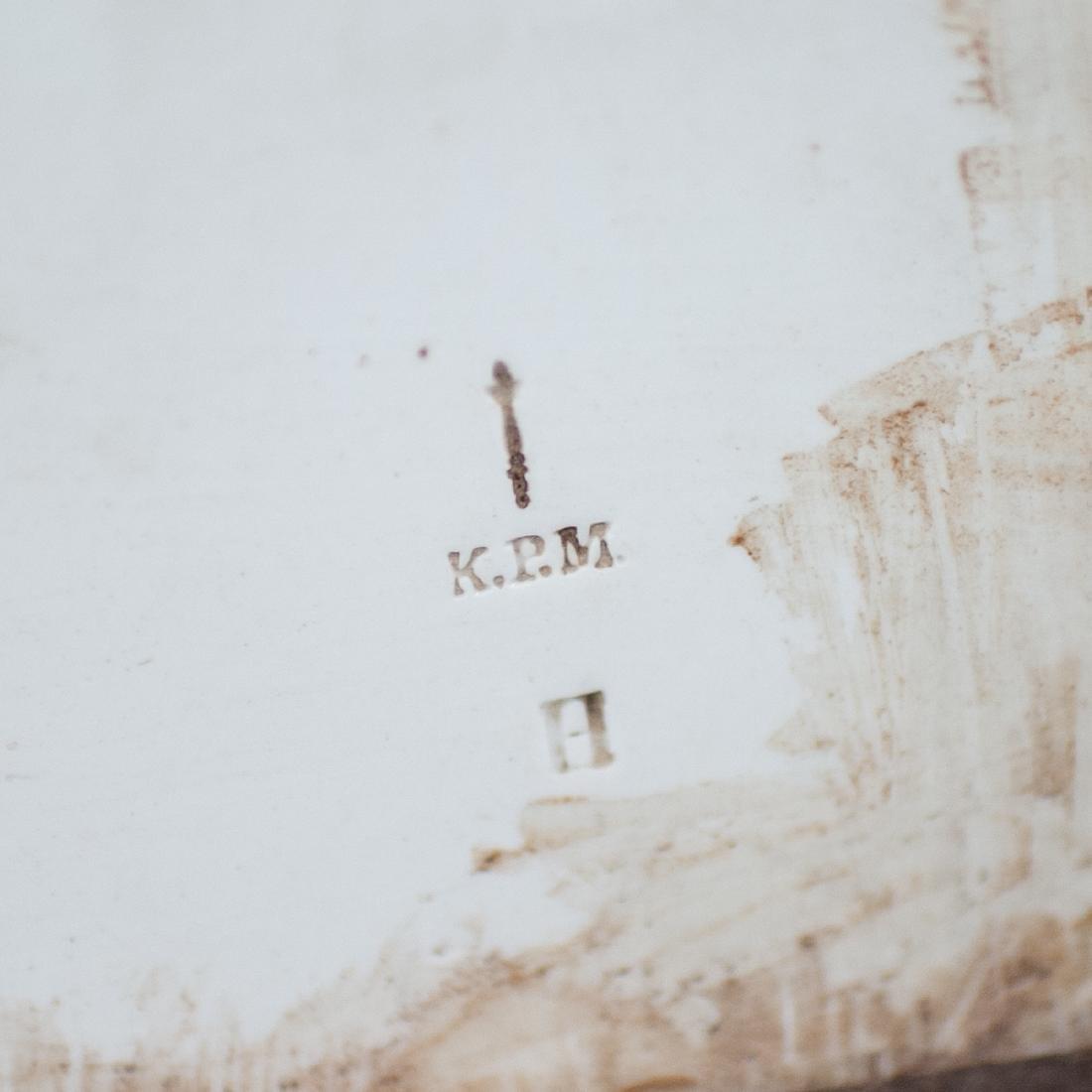 Antique KPM Painted Porcelain Plaque - 3