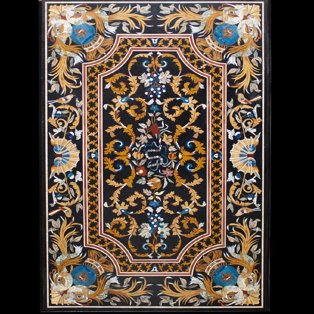Large Italian Pietra Dura Plaque
