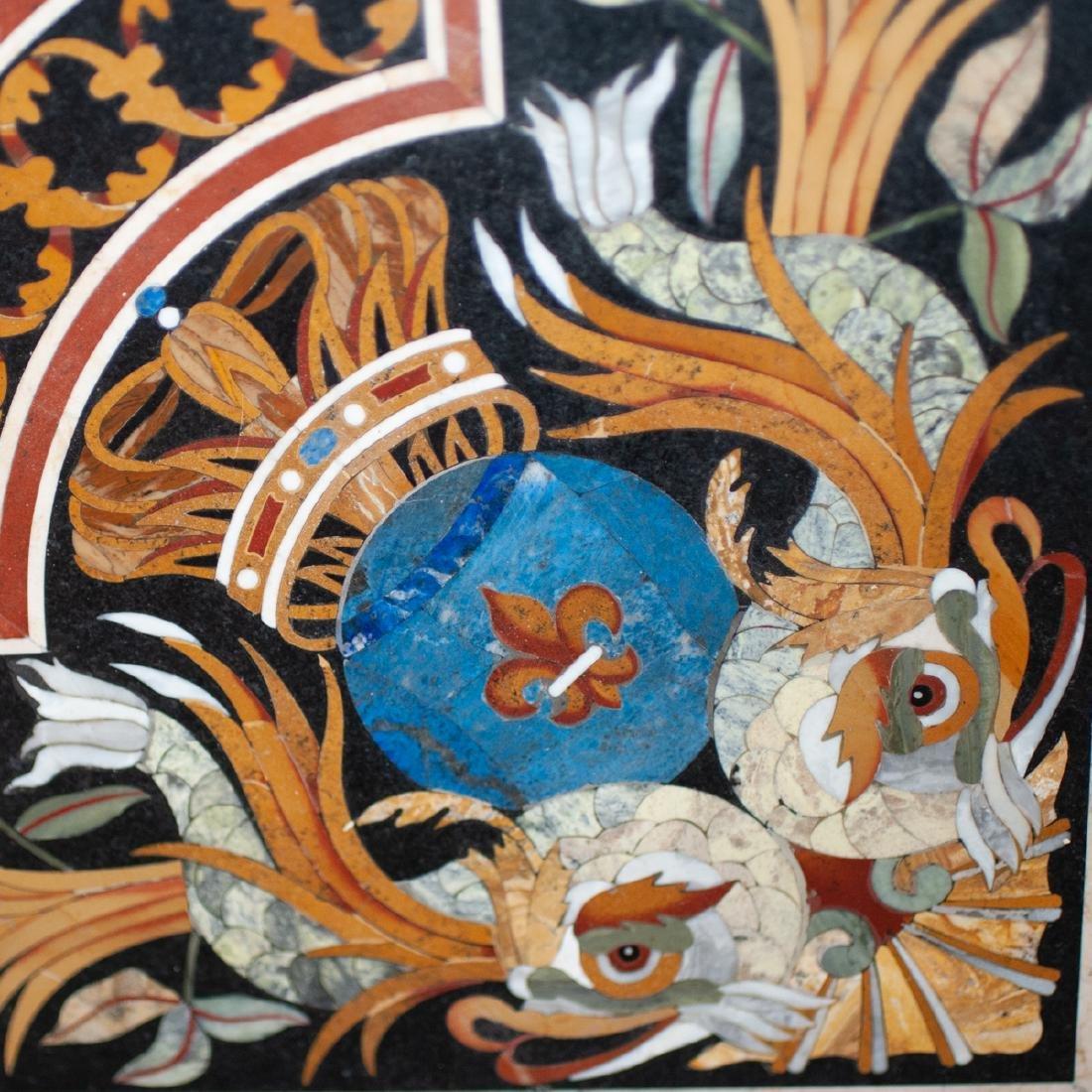 Large Italian Pietra Dura Plaque - 4
