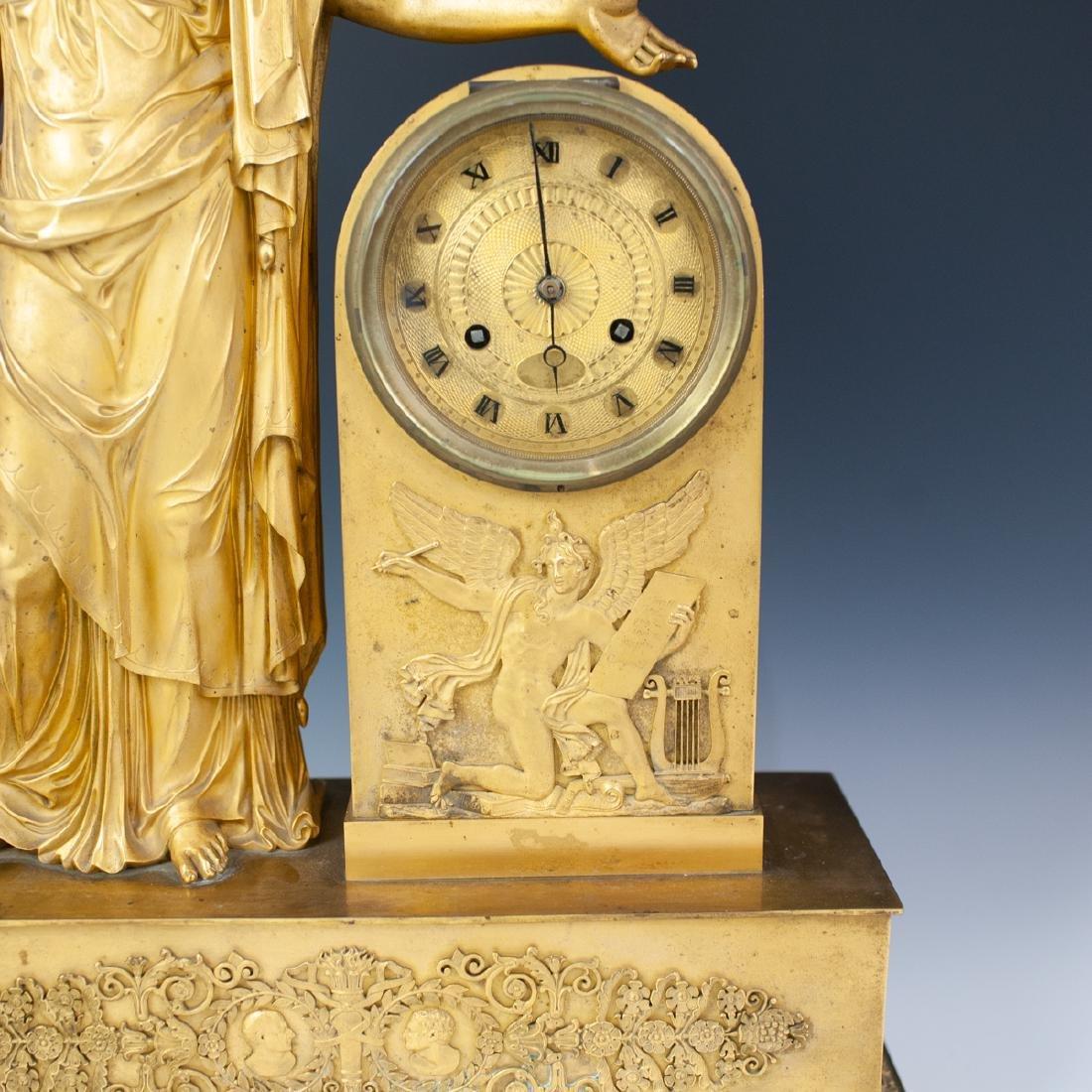 French Gilt Bronze Mantle Clock - 3