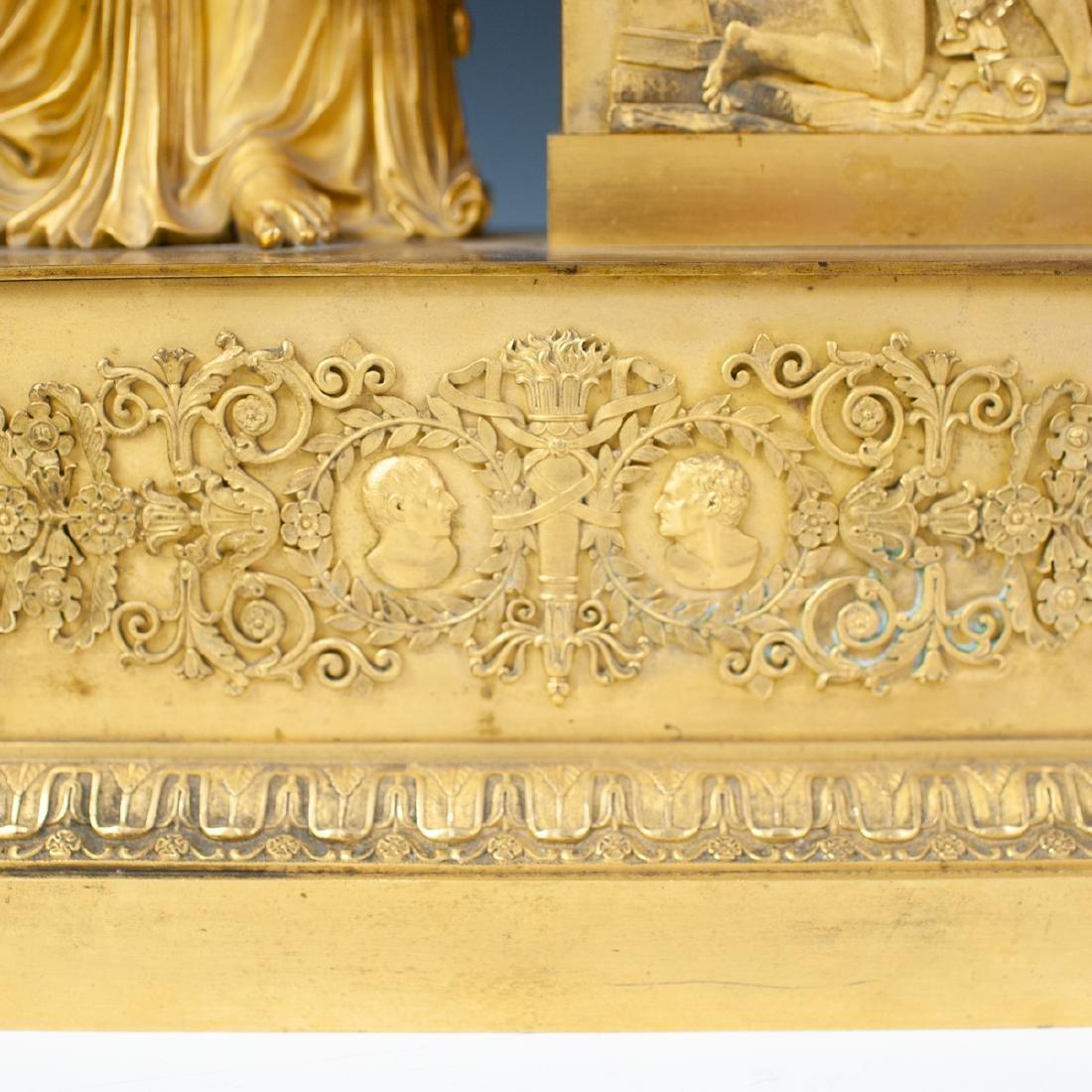 French Gilt Bronze Mantle Clock - 4