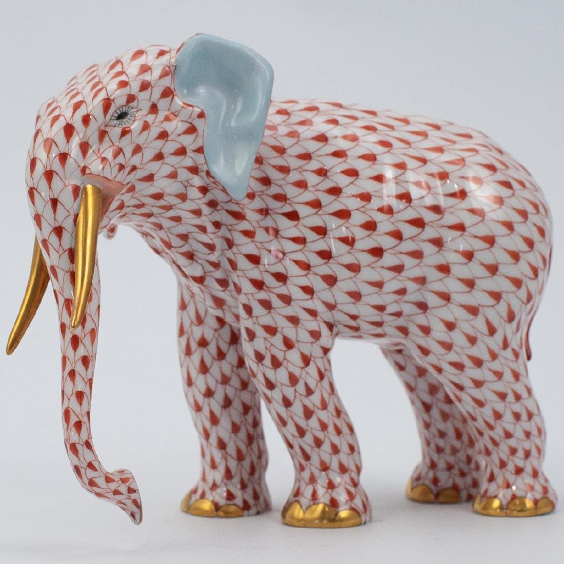Herend Porcelain Fishnet Elephant