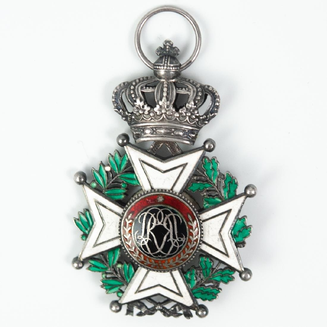 """Belgian """"L'Union Fait La Force"""" Enameled Medal - 2"""
