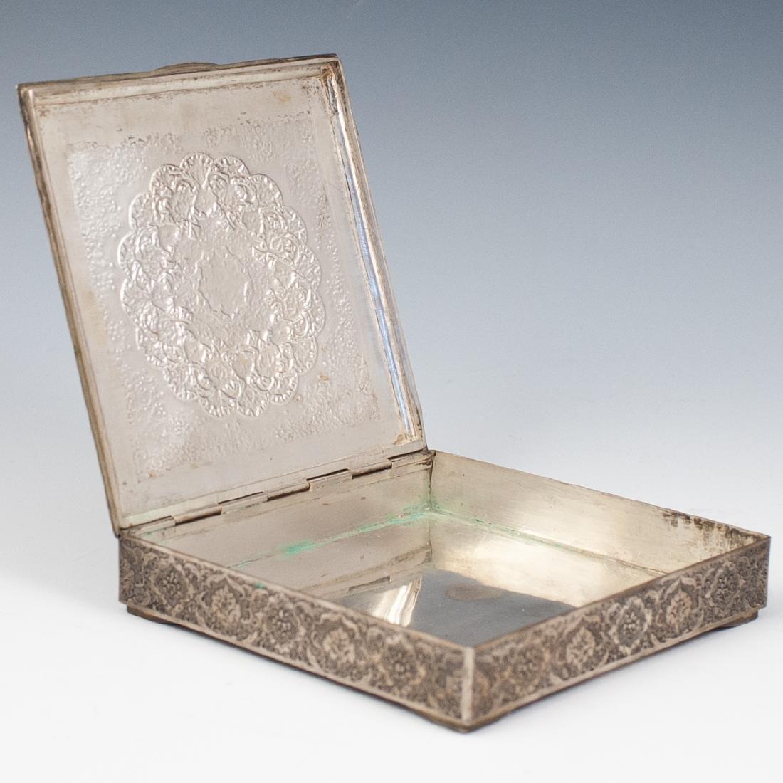 Persian Silver Hinged Box - 2