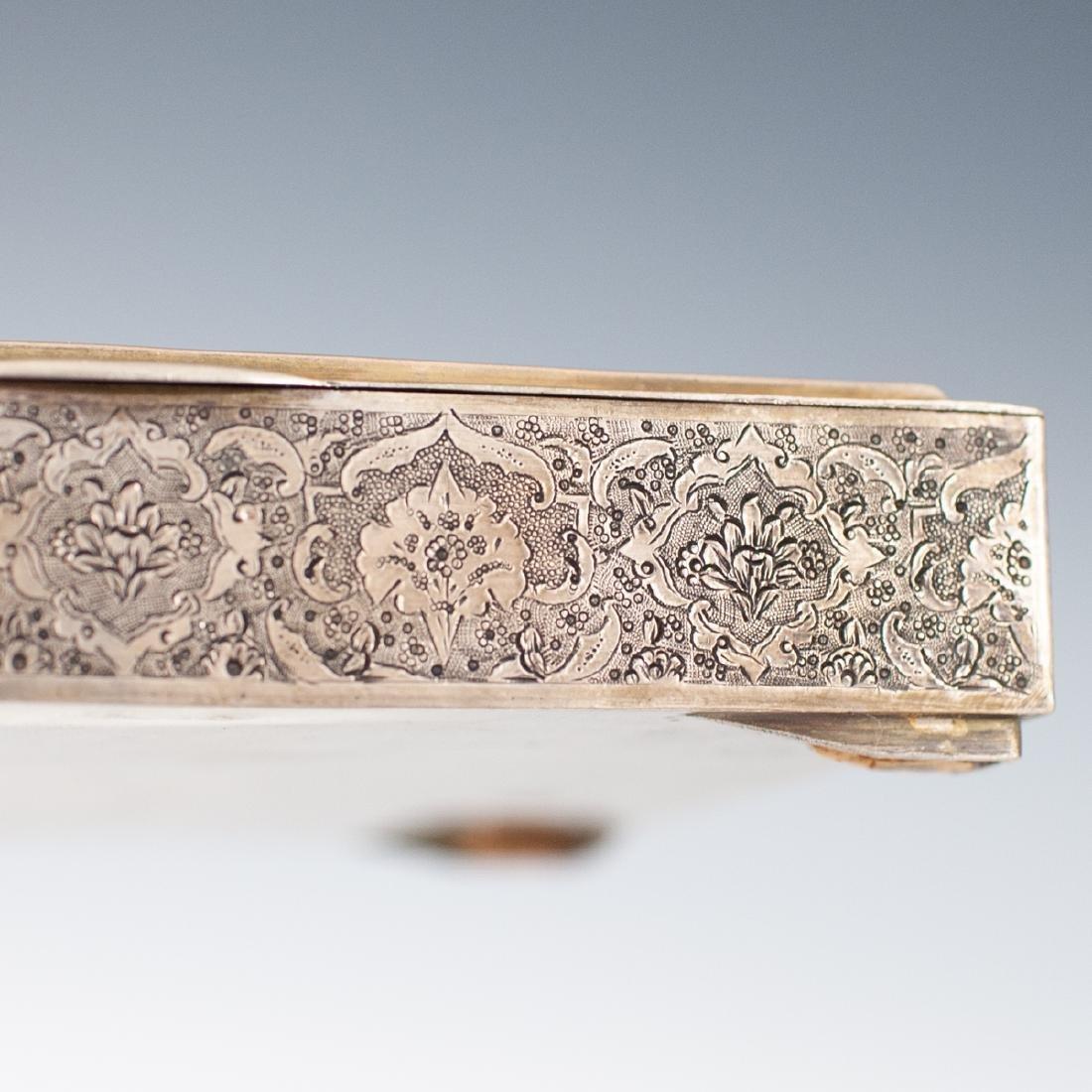 Persian Silver Hinged Box - 4